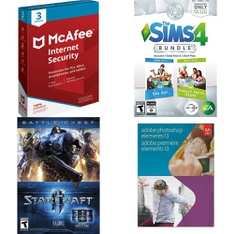 84 Pcs - Computer Software & Video Games - Brand New - McAfee, Activision, EA, Adobe