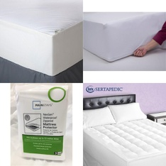 Pallet – 34 Pcs – Covers, Mattress Pads & Toppers – Customer Returns – Mainstay's, Aller-Ease, Mainstays, Sertapedic