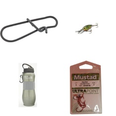 Pallet - 295 Pcs - Fishing & Wildlife, Hunting, Camping & Hiking, Outdoor Sports - Customer Returns - Storm, Mustad, Ozark Trail, South Bend Sporting Goods