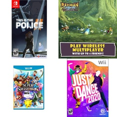 9 Pcs – Nintendo Video Games – New, Like New – This is the Police II (NS), 83664A, amiibo Simon Super Smash Bros.,Series (Nintendo Switch), ayman Legends Definitive Edition (NS)