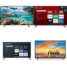 12 Pcs – LED/LCD TVs – Refurbished (GRADE A, GRADE B) – Onn, Samsung, VIZIO, TCL