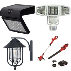 6 Pallets - 146 Pcs - Patio & Outdoor Lighting / Decor, Trimmers & Edgers, Grills & Outdoor Cooking - Customer Returns - Hyper Tough, Honeywell, WESTINGHOUSE, Sunforce