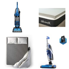 Pallet – 22 Pcs – Vacuums, Covers, Mattress Pads & Toppers – Customer Returns – Hoover, Allswell