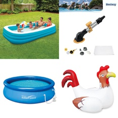3 Pallets - 51 Pcs - Pools & Water Fun, Action Figures, Hot Tubs & Saunas, Outdoor Sports - Customer Returns - Play Day, PolyGroup, Summer Waves, Bestway