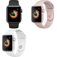 8 Pcs – Apple Watch – Series 3 – 38MM – GPS – Refurbished (GRADE D) – Models: MTF02LL/A, MTEY2LL/A, 3D211LL/A