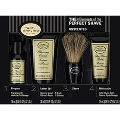 10 Pcs - The Art of Shaving Unscented 4 Elements of the Perfect Shaver Starter Kit - New - Retail Ready