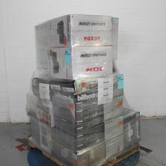 Pallet – 27 Pcs – Receivers, CD Players, Turntables – Tested NOT WORKING – CROSLEY , Ion, Blackweb, Billboard