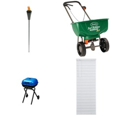 3 Pallets - 58 Pcs - Patio & Outdoor Lighting / Decor, Curtains & Window Coverings, Accessories, Grills & Outdoor Cooking - Customer Returns - LAMPLIGHT, Mainstay's, Better Homes and Garden, Scotts