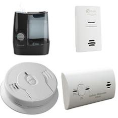 3 Pallets – 334 Pcs – Hardware, Smoke Alarms & CO Detectors, Humidifiers / De-Humidifiers – Customer Returns – Kidde, Honeywell, Brinks, Kaz