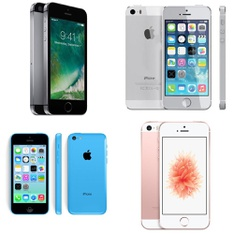 14 Pcs - Apple iPhones - Refurbished (BRAND NEW, GRADE A, GRADE B - Unlocked) - Models: ME297LL/A - R, IP5C-8GB-Blue-Rogers, MP822VC/A, ME296LL/A - R