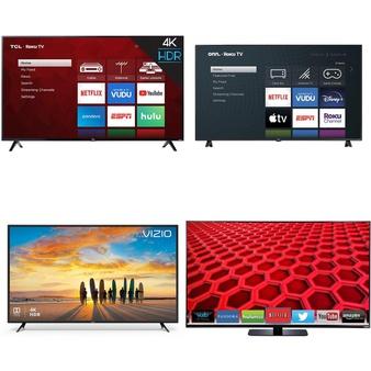 18 Pcs – LED/LCD TVs – Refurbished (GRADE A, GRADE B) – VIZIO, TCL, onn., JVC