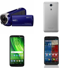 CLEARANCE! 131 Pcs - Other, Networking, Digital Camcorders, LG - Refurbished (BRAND NEW, GRADE A, GRADE B) - Sony, LG, Motorola, Amped Wireless