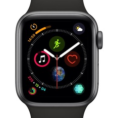 5 Pcs - Apple Watch Gen 4 Series 4 Cell 40mm Space Gray Aluminum - Black Sport Band MTUG2LL/A - Refurbished (GRADE A)