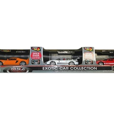18 Pcs – MSZ Exotic Toy Cars Collection – 3 Pack – New – Retail Ready