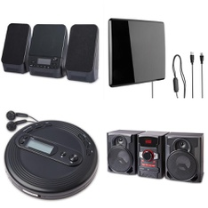 Pallet - 103 Pcs - Accessories, Receivers, CD Players, Turntables - Customer Returns - onn., Onn, One For All, Monster