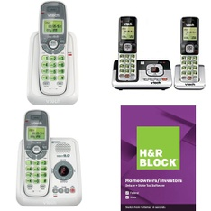 3 Pallets – 799 Pcs – Cordless / Corded Phones, Accessories, Computer Software, Other – Customer Returns – VTECH, Onn, H&R Block, Blackweb