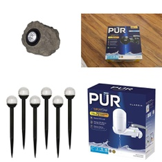 3 Pallets – 543 Pcs – Lighting & Light Fixtures, Hardware, Kitchen & Dining, Smoke Alarms & CO Detectors – Customer Returns – Mainstays, Kaz, Kidde, PUR