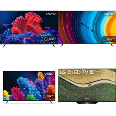 24 Pcs – LED/LCD TVs – Refurbished (GRADE A, GRADE B) – VIZIO, LG