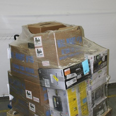 6 Pallets - 1650 Pcs - Accessories, Receivers, CD Players, Turntables, Hardware, Fans - Customer Returns - Monster, Lasko, Brinks, Stanley