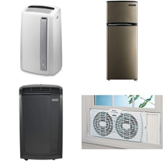 5 Pallets - 47 Pcs - Air Conditioners, Fans - Customer Returns - DeLonghi, De'Longhi, Thomson