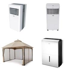 Pallet - 5 Pcs - Air Conditioners - Customer Returns - Arctic King, Hamilton, Midea, HomeTrends