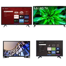 14 Pcs – LED/LCD TVs – Refurbished (GRADE A) – TCL, Samsung, LG, RCA