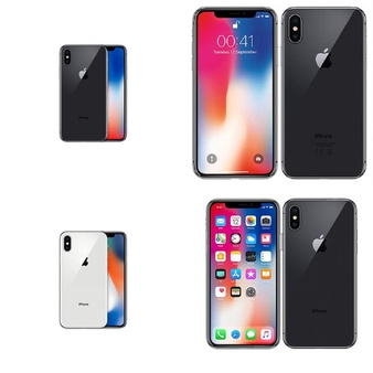 25 Pcs – Apple iPhone X – Refurbished (GRADE A – Unlocked) – Models: MQA82LL/A, MQA62LL/A, MQA52LL/A, MQAK2LL/A