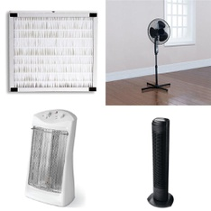 Pallet – 75 Pcs – Fans, Heaters, Humidifiers / De-Humidifiers – Customer Returns – Mainstays, Mainstay's, HomeTrends, Honeywell