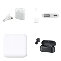 3 Pallets – 1120 Pcs – Accessories, In Ear Headphones, Other, Chargers – Customer Returns – Blackweb, Onn, Apple, GE
