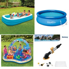 Half Truckload - 12 Pallets - 293 Pcs - Pools & Water Fun, Accessories, Camping & Hiking, Vehicles, Trains & RC - Customer Returns - Play Day, Bestway, PolyGroup, Summer Waves