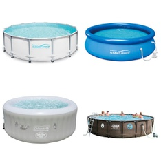 3 Pallets - 18 Pcs - Pools & Water Fun - Customer Returns - Summer Waves Elite®, Coleman, Summer Waves Elite