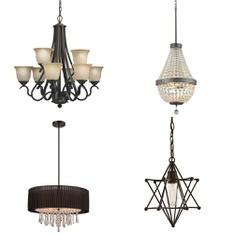 51 Pcs - Lighting - Like New, Used, New - Retail Ready - Portfolio, Style Selections, Kichler, Quoizel