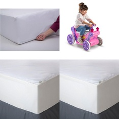 Pallet – 34 Pcs – General Merchandise – Covers, Mattress Pads & Toppers, Comforters & Duvets, Vehicles – Customer Returns – Mainstays, Mainstay's, Aller-Ease, Huffy