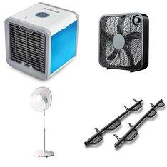 Pallet – 54 Pcs – Fans, Air Conditioners, Automotive Accessories – Customer Returns – Mainstay's, Emson, WESTINGHOUSE, Mainstays