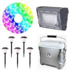 3 Pallets – 179 Pcs – Patio & Outdoor Lighting / Decor, Outdoor Play, Accessories, Leaf Blowers & Vaccums – Customer Returns – Jem Accessories, Honeywell, Member's Mark, Igloo