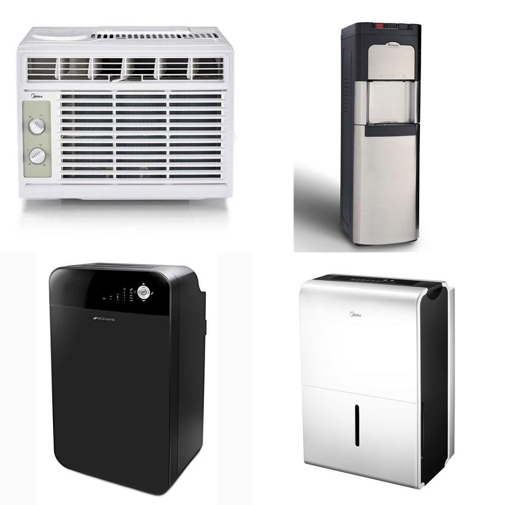 Pallet - 12 Pcs - Air Conditioners - Customer Returns - Midea, Bionaire,  WHIRLPOOL, Hamilton Beach