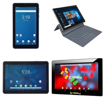 26 Pcs – Tablets – Tested NOT WORKING – Onn, NuVision, LINSAY, Toshiba
