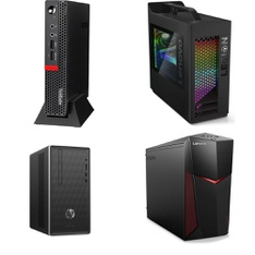 29 Pcs – Desktop Computers – Refurbished (GRADE A, GRADE B) – LENOVO, HP, DELL