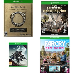 39 Pcs – Microsoft Video Games – Like New, New, Used – The Elder Scrolls, Destiny 2 (Xbox One), For Honor: Marching Fire Edition (XB1), Far Cry New Dawn (XB1)
