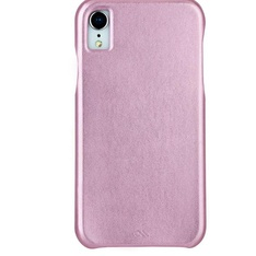 25 Pcs - Case-Mate Apple iPhone XR Barely There Leather Case Metallic Blush - New - Retail Ready