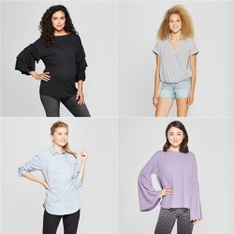 150 Pcs - T-Shirts, Polos, Sweaters & Cardigans - New - Retail Ready - Universal Thread, A New Day, Isabel Maternity by Ingrid & Isabel, Xhilaration