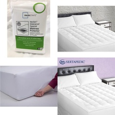 Pallet – 37 Pcs – Covers, Mattress Pads & Toppers, Comforters & Duvets – Customer Returns – Mainstays, Beautyrest, Sertapedic, SPRINGS GLOBAL