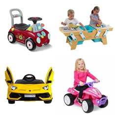 Pallet – 9 Pcs – Vehicles, Outdoor Sports – Customer Returns – Radio Flyer, Little Tikes, Disney Minnie Mouse, Step2