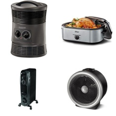 3 Pallets - 121 Pcs - Heaters, Slow Cookers, Roasters, Rice Cookers & Steamers, Drip Brewers / Perculators - Customer Returns - Mainstay's, Honeywell, Oster, Mr. Coffee