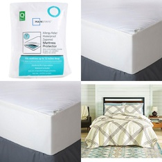 Clearance! Pallet – 51 Pcs – Covers, Mattress Pads & Toppers, Comforters & Duvets, Bedding Sets, Pillows – Customer Returns – Mainstay's, Aller-Ease, Better Homes & Gardens, Mainstays