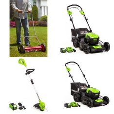 Pallet - 14 Pcs - Mowers - Customer Returns - GreenWorks