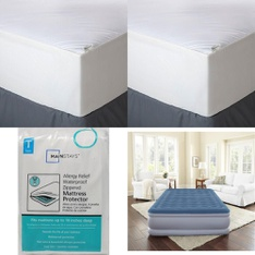 Pallet - 55 Pcs - Covers, Mattress Pads & Toppers, Comforters & Duvets - Customer Returns - Aller-Ease, Mainstay's, Mainstays, Beautyrest