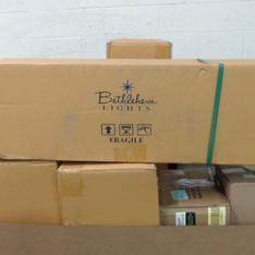 Pallet - 24 Pcs - Decorations & Favors, Giftwrap & Supplies - Customer Returns - Minted, GKI Bethlehem Lighting, Hallmark, TEKTRUM