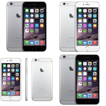 6 Pcs – Apple iPhone 6 – Refurbished (GRADE B – Unlocked) – Models: MQ3X2LL/A, MG4W2LL/A, 3A021LL/A, NG4W2LL/A