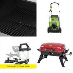 Pallet - 7 Pcs - Unsorted, Grills & Outdoor Cooking - Customer Returns - Dyna-Glo, GreenWorks, Karcher, Backyard Grill
